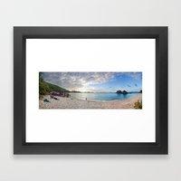 trunk bay Framed Art Print