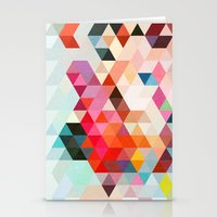 patterns Stationery Cards featuring Heavy words 01. by Three of the Possessed
