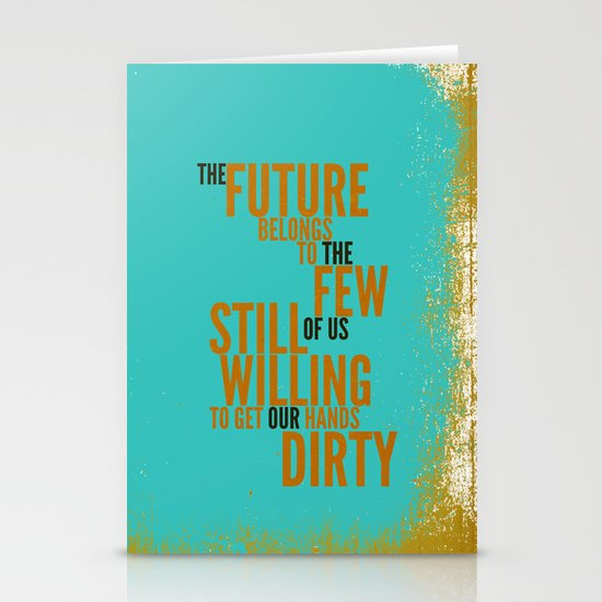 The Future Belongs to You Stationery Card