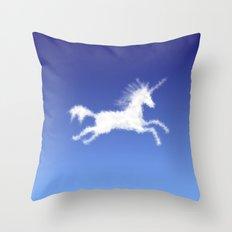 Cloudy Unicorn Throw Pillow