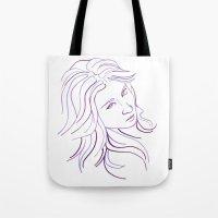 Purple Portrait Tote Bag