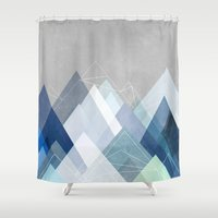 Graphic 107 X Blue Shower Curtain