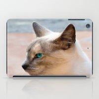 A Siamese Cat study iPad Case