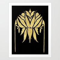 Golden Symmetry 1 Art Print