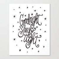 GOODNIGHT SLEEP TIGHT Canvas Print