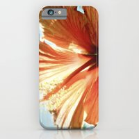Coral Hibiscus iPhone 6 Slim Case