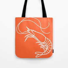 Orange Shrimp Tote Bag
