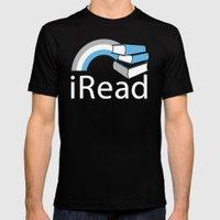 i Read | Book Nerd Slogan Mens Fitted Tee Black SMALL