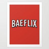 Baeflix Art Print