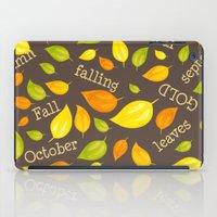 Fall Leaves Pattern iPad Case
