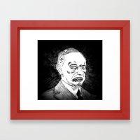 30. Zombie Calvin Coolid… Framed Art Print