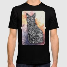 Black Cat SMALL Mens Fitted Tee Black