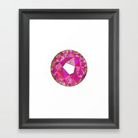 Never Enough Donuts Framed Art Print