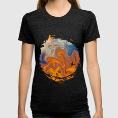 SKY ON FIRE Womens Fitted Tee Tri-Black SMALL