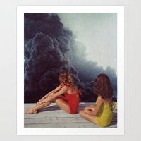 SUNBATHING Art Print