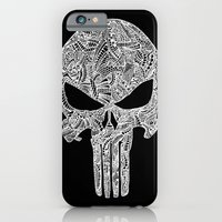 iPhone Cases featuring Punisher  by christoph_loves_drawing