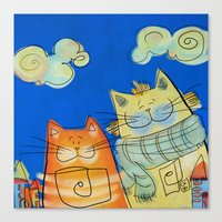 Fun Cats Canvas Print