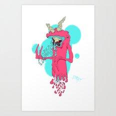 Deadly Cough Art Print