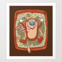 Kitty Litter Joy Art Print