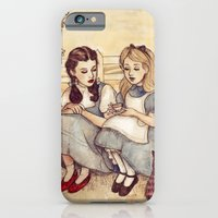 girls iPhone & iPod Cases featuring Dorothy and Alice by Helen Green