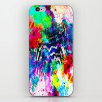Technicolor Zebra Splatt… iPhone & iPod Skin