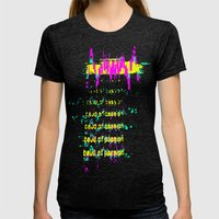 baud Womens Fitted Tee Tri-Black SMALL