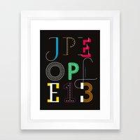 Jpeople Magazine 13 Framed Art Print