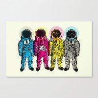 CMYK Spacemen Canvas Print