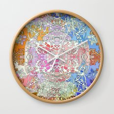 Sunset in Fairy Tale forest Wall Clock