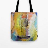 Guitar Melodies Tote Bag