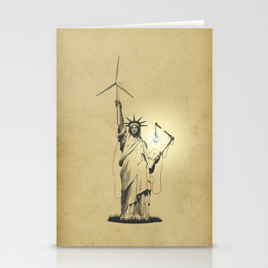 And then there was light Stationery Card
