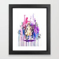 I'm stronger than my fears.  Framed Art Print