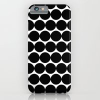 Black & White Polka Spots iPhone 6 Slim Case