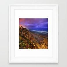Encinitas Beach Framed Art Print