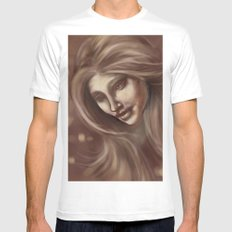 Beautiful SMALL White Mens Fitted Tee
