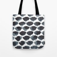 Tote Bag featuring Blue Fans by Julia Hendrickson
