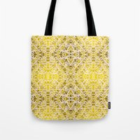 Random Rope On Gold Foil Tote Bag