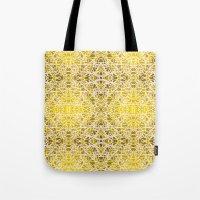 Random Rope On Gold Foil Tote Bag