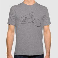 Trout  Mens Fitted Tee Athletic Grey SMALL
