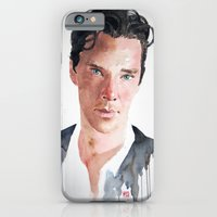 iPhone & iPod Case featuring Sherlock, Benedict Cumberbatch by Penny Crichton-Seager