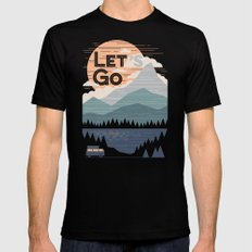 Let's Go Black Mens Fitted Tee SMALL