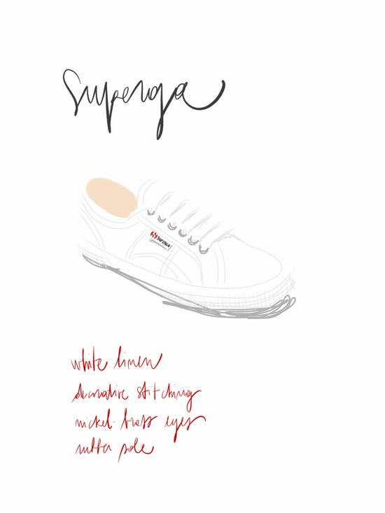 #theFIserie: White Sneakers Art Print