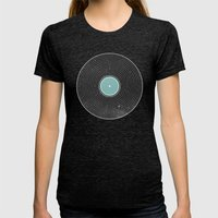 Space Disco Womens Fitted Tee Tri-Black SMALL