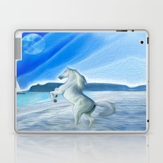 My Design - Beach with moon and horse Laptop & iPad Skin
