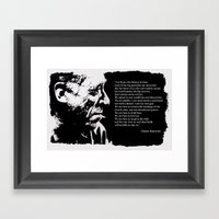 Charles BUKOWSKI - faith quote Framed Art Print