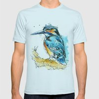Regal Kingfisher Mens Fitted Tee Light Blue SMALL