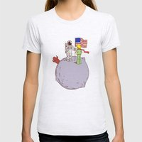 I Was Here First Womens Fitted Tee Ash Grey SMALL