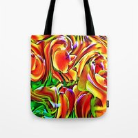Twisted Tulips Tote Bag