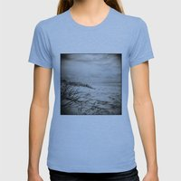 { Sand, Surf, Sun } Womens Fitted Tee Athletic Blue SMALL