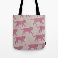 Pink Tigers Tote Bag